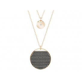 Swarovski Ketting Ginger Layered Gray-Rosegold 5347299
