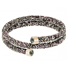 Swarovski Armband Crystaldust Bangle Double Brown-Rosegold M 5348102