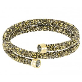 Swarovski Armband Crystaldust Bangle Double Brown-Gold M 5348103