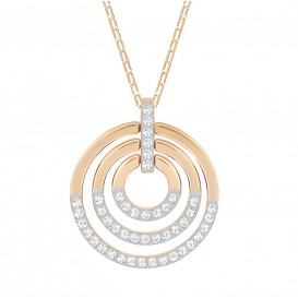 Swarovski Ketting Circle White-Rosegold 5349193