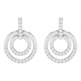 Swarovski Oorbellen Circle Medium White/Silver 5349203