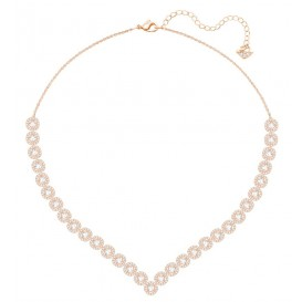 Swarovski Ketting Angelic Square Large White-Rosegold 5351308
