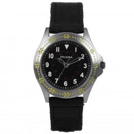 Prisma Horloge 259 Jongens Bolk Zwart Canvas CW.259 Kinderhorloge 1