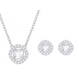 Swarovski Ketting + Oorknoppen Angelic Square White-Silver 5356951 =1
