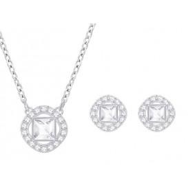 Swarovski Ketting + Oorknoppen Angelic Square White-Silver 5356951 =1