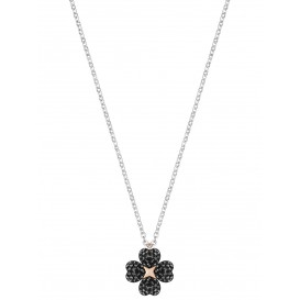Swarovski Ketting Latisha Flower zwart-wit 5368980
