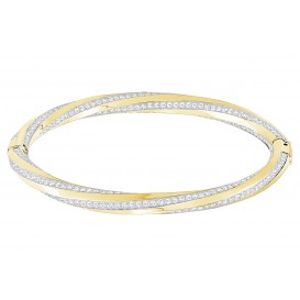 Swarovski Armband Hilt Bangle goudkleurig S 5372855