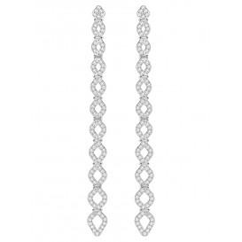 Swarovski Oorbellen Lace zilverkleurig 5382356