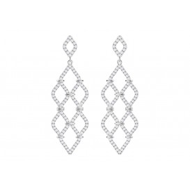 Swarovski Oorbellen Lace Chandelier white 5382358