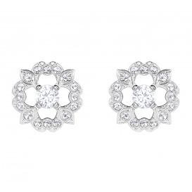Swarovski Oorbellen Sparkling Flower zilverkleurig 5396227