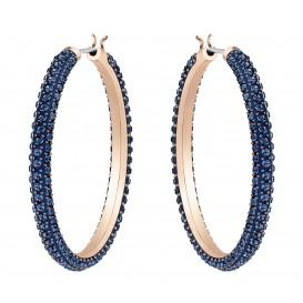 Swarovski Oorbellen Stone Hoop rosékleurig-blauw 35 mm 5408459