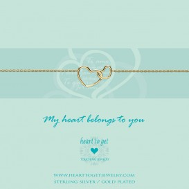 Heart to get B218ENH15G my heart belongs to you armband verguld