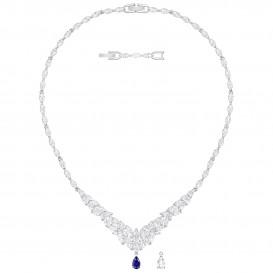 Swarovski Ketting Louison zilverkleurig-blauw 5419234