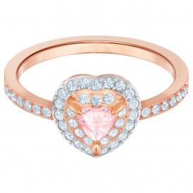 Swarovski 5470690 Ring One rosekleurig-roze Maat 52