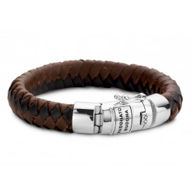 Buddha to Buddha Armband Ben Leather Mix Brown/Black (F) 21 cm 544MIX