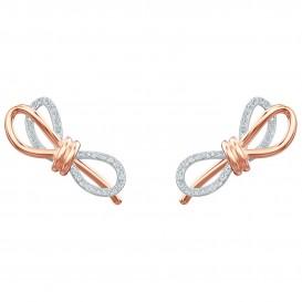 Swarovski 5447089 Oorbellen Lifelong Bow zilver- en rosekleurig