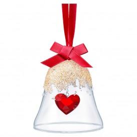 Swarovski 5464881 Ornament Happy Christmas Heart Bell