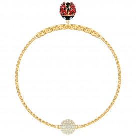Swarovski 5466832 Armband Remix Collection Lady Bug goudkleurig-multicolor 18 cm