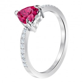 Swarovski 5474942 Ring One zilverkleurig-rood Maat 50