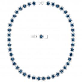 Swarovski 5482698 Ketting Angelic zilverkleurig-blauw