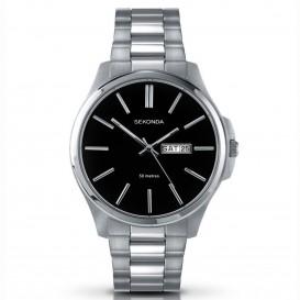 Sekonda Horloge 3381 Heren Staal Dag datum SEK.3381 Herenhorloge 1