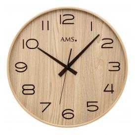 AMS 5522 Wandklok zendergestuurd hout 40 cm ø