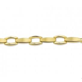 Armband Goud Poli/mat 6,8 mm 19 cm