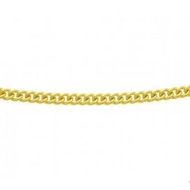 Zilgold Collier goud met zilveren kern Gourmet 5,5 mm 45 cm