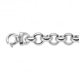 Zilveren schakelarmband best basics Jasseron 17 mm 104.0891.22