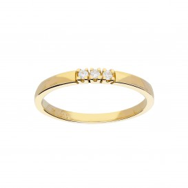 Glow 214.2012.56 Ring geelgoud met diamant 3-0.06ct G/si