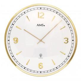 AMS 5609 Wandklok zendergestuurd goudkleurig metaal 40 cm ø