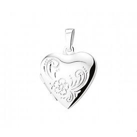 Medaillon Hart Gravure Zilver  20,0 mm x 20,5 mm