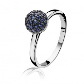 Zinzi ZIR915B ring met zirkonia bol Maat 54 is 17.25mm