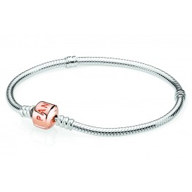 Pandora Rose Armband zilver met rosékleurige sluiting 17 cm 580702