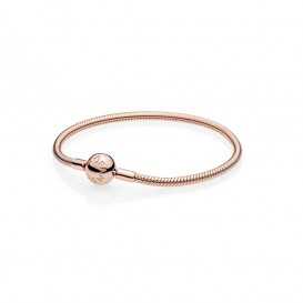 Pandora Moments Smooth Armband Rose Clasp 580728