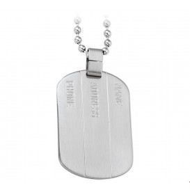 TFT Collier Staal Dogtag Mat 50 cm