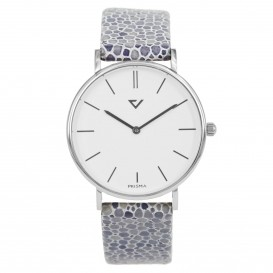 Prisma Horloge 1866 Dames Edelstaal Zilver 100%NL P.1866 Dameshorloge 1