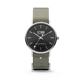 CO88 Collection 8CW-10018 - Horloge - Nato nylon - grijs - 36 mm