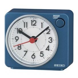 Seiko QHE100E reiswekker metallic blauw
