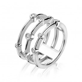 Zinzi ZIR1441 Ring zilver met zirconia multi-look