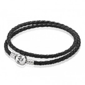 Pandora Armband Leder zwart 590705CBK 35 cm D1