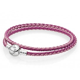Pandora Armband dubbel Moments roze mix 38 cm 590747CPMX-D2
