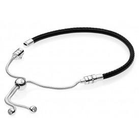 Pandora Armband Moments Sliding Leather Black 597225CBK-2