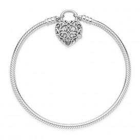Pandora Armband zilver Smooth Padlock 17 cm 597602