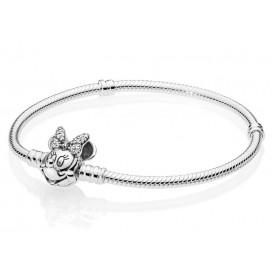 Pandora 597770CZ Armband zilver Disney Minnie 18 cm
