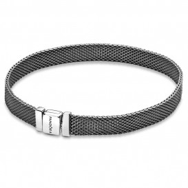 Pandora Reflexions 598400C00 Armband Sliding Mesh geoxideerd zilver 20 cm