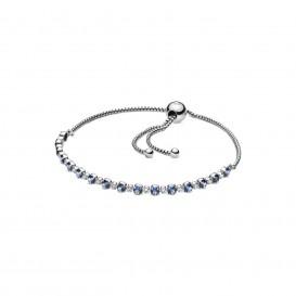 Pandora 598517C01-2 Armband Blue en Clear Sparkle Sliding 25 cm