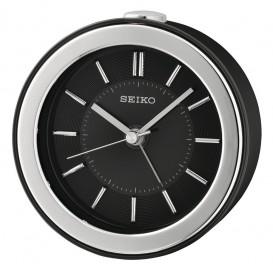 Seiko wekker  zilver/zwart kunststof QHE156K