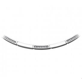 TFT Collier staal zirkonia 4,0 mm breed  42 + 3 cm lang
