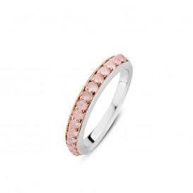 TI SENTO - MIlano 12123SP ring zilver roze
